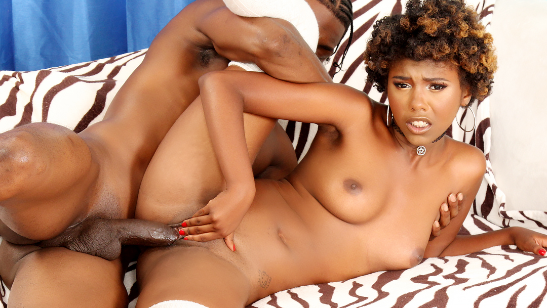 Smokin Black Babe Daizy Cooper Fucked in Mouth and Pussy and Takes Facial